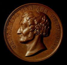 Heidelberg, Bronzemedaille 1844, von Kachel, Friedrich Creuzer, Philologe, RR!