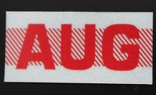 Old School 60's, 70's RED/WHITE Vintage Style CALIFORNIA MONTH STICKER. AUGUST