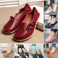 Comfort Women Ballet Flats Slip On Boat Shoes Work Casual Loafer Soft Sole Shoes