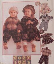 8548 McCall's Boy Girl Fleece Jacket / Coat Pants Hat Dress Toddler Size 2 3 4