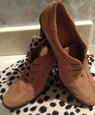 $350  HOGAN ANKLE BOOTS SIZE 4.5M (34) Booties Shoes Golden Beige SUEDE ITALY