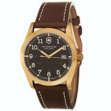Victorinox Swiss Army Men's Infantry Brown Dial Brown Strap Quartz Watch V241645
