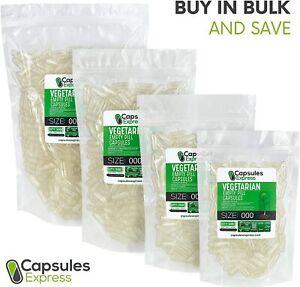Size 000 Clear Empty Vegan/Vegetable Vegetarian Pill Capsules Veg Vcaps USA Made