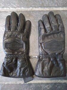 Harley davidson motorcycle leather Gloves Size Medium Women's street icon logo