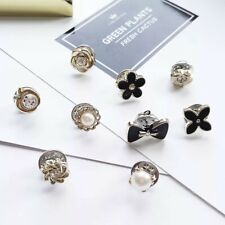 Women Ladies Tiny Brooch Hat Scarf Collar Pin Accessory Buckle Crystal Pearl F8
