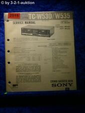 Sony Service Manual TC W530 / W535 Cassette Deck  (#2515)