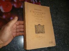 Annales de l Académie de Mâcon 1940 41 T.XXXV Lire table des Matières en dessous
