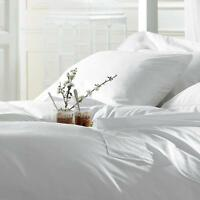 """Egyptain Cotton King Size 300 THREAD 16"""" 40cm Extra Deep Fitted Sheet Cream"""