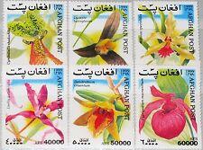 AFGHANISTAN 1999 1916-21 Orchideen Orchids Flowers Blumen Flora Plants MNH