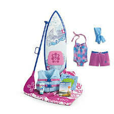 American Girl KANANI'S BEACH OUTFIT + PADDLEBOARD SET swim suit paddle board +