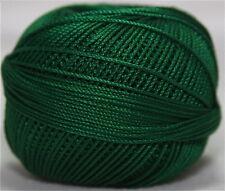 Lizbeth Cordonnet 100% Egyptian Cotton Thread  Size 3 Color 638 Christmas Green