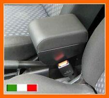 BRACCIOLO PREMIUM per Ford Fiesta (02-08)+portaoggetti in SIMILPELLE COLORE NERO