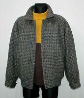 Vintage DOLOMITEN Made in ITALY Wool Jacket TWEED Grey Blue Mens Size 46 UK L