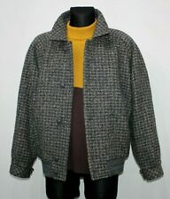 Vintage DOLOMITEN Made in ITALY Wool Jacket TWEED Grey Blue Mens Size 46 UK L