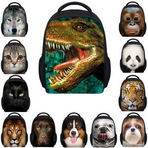 Fashion Dinosaur Backpack Small Animal Rucksack Kids Boy School Bag Lunch Bag