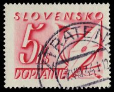 """SLOVAKIA J37 (Mi P37) - Letter and Post Horn """"Postage Due"""" (pa37647)"""