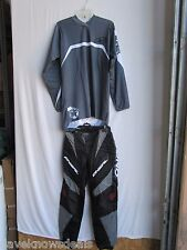 ADULT motocross combo men's ONEAL pants size 28,NO FEAR jersey SMALL gray
