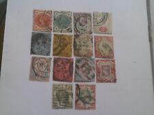 Timbres Grande Bretagne 1887-1900 Y&T n° 91 à n° 104 Oblitéré X