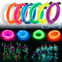 1/3/5M Flexible EL Wire LED Neon Glow Strip Light Car Decor 3V/12V/5V USB Driver