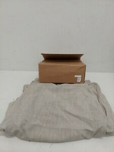 Pottery Barn Kids: Comfort Ottoman Slipcover Solid Washed Grainsack Flax - New