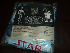 Vintage Star Wars Curtains Luke Skywalker Hans Leia Darth Vader Rare MIP 1977
