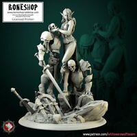 "Death Covenant ""Diorama BOSS Scale"" White Werewolf Tavern | 28mm-35mm |Boneshop"