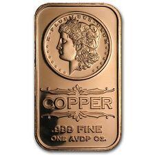 Rame Copper 999 Lingotti di rame 1 oncia oz Morgan $ Nuovo STATI UNITI Rari