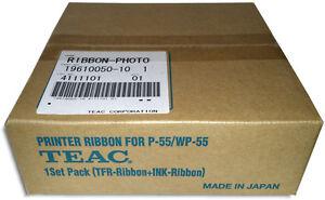 TEAC P-55 4-Color CMYK PHOTO Ribbon & Transfer Ribbon Set (19610050-10)
