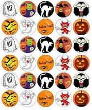 30x Halloween Kids Cupcake Toppers Edible Wafer Paper Fairy Cake Toppers