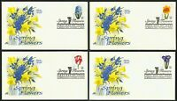 #3900-3903 37c Spring Flowers, Art Craft FDC **ANY 4=FREE SHIPPING**