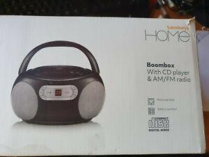 boxed digital portable cd player plus radio