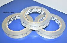 """3 Rolls Uline Crystal Clear tape 3/4"""" x 72 Yards, strong acrylic quality"""
