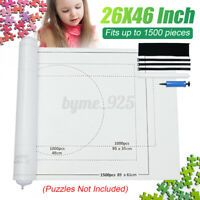 "Upto 1500 Pce Jigsaw Puzzle Roll Up Storage Mat Sorter Telescopic Tube 26*46"" AU"