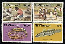 ST VINCENT, Sc #0984-85a-b, MNH 1986, Marine Life, Fresh water fishing, MA026F