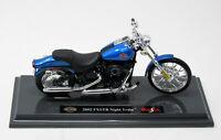 Modell 1:18 Harley Davidson Night Train  FXSTB 2002  met. blau Maisto