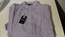 NWT $46 CLUB ROOM SOFT WASH COTTON DRESS SHIRT PURPLE STRIPE SMALL