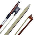 Pernambuco Violin Bow-Full Size 4/4 Octagonal Stick, Real Horse Hair Ebony