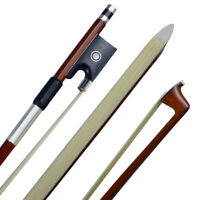 Pernambuco Violin Bow-Full Size 4/4 Octagonal Stick, Real Horse Hair Ebony