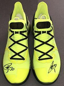 """Stephen Curry autographed """"UA Curry 6"""" signed size 11.5 auto shoes FANATICS COA"""