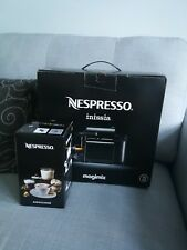 Nespresso Inissia Coffee Machine by Magimix, Black and Aeroccino 3 Frother BNIB