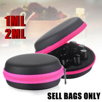12 Slots Aromatherapy Essential Oil Storage Carrying Case Organizer Bag Bottles