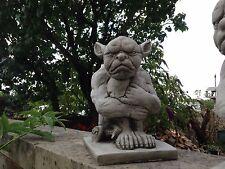 (NUOVO) scontroso Gargoyle, pietra da giardino ornamenti, Gargoyle, scultura in cemento su misura