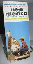 New Mexico USA Vacation Land of Enchantment Map Foldout - Good