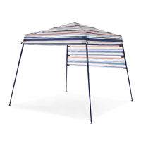 SlumberTrek 3049370VMI Tropez Outdoor Beach Gazebo Shelter, Red, White, and Blue