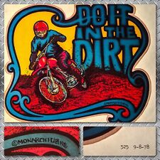 70s Enduro Motor Bike DO IT IN THE DIRT Motorcycle motocross vTg t-shirt iron-on