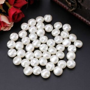 50pcs Round Sewing Pearl Buttons For Clothing Sewing Clothing Scrapbooking Craft