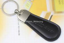 AUDI Leather Keyring NEW UK Seller Black Silver