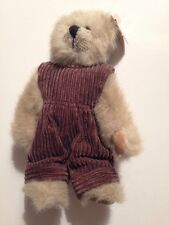 Ty Attic Treasures Abby The Bear With Purple Courderoy Overalls MWMT