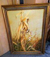 "ANTON WEISS ""Cornstalk"" Large Original Signed Oil on Canvas  Listed Artist."