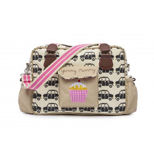 Pink Lining Yummy Mummy  Black Cabs  Baby Nappy Changing Bag  - NEW